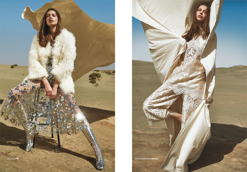 "L'Officiel Kazakhstan Editorial ""Sands of Oblivion"" by Bela Raba München"