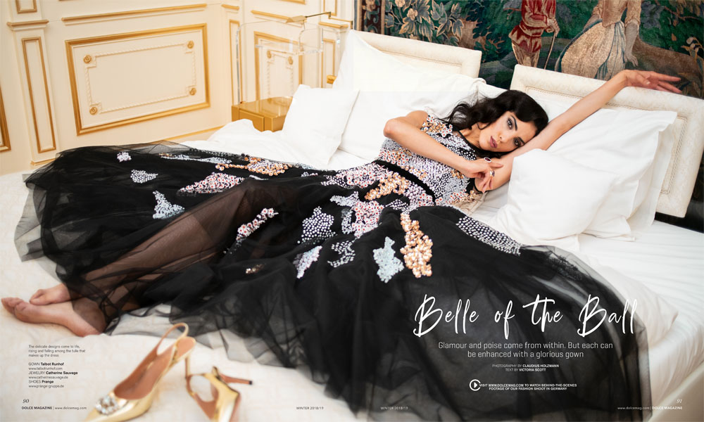 "Editorial ""Belle of the Ball"" for Dolce Magazine Canada by Claudius Holzmann"