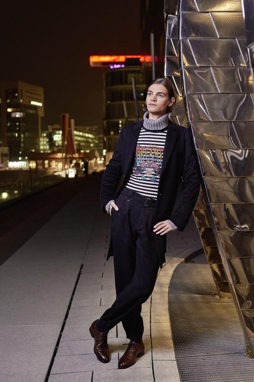 "Mode-Editorial ""Light up the Night"" für Dolce Magazine Kanada mit Dopamin Model Fynn"