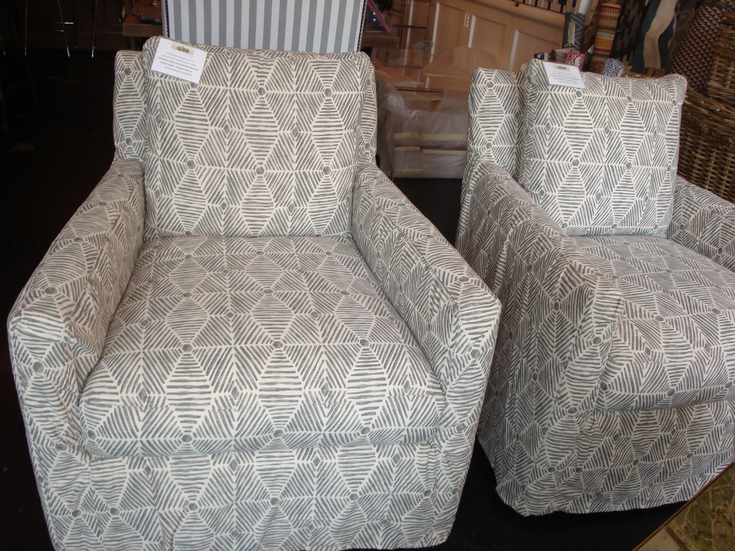 Coverall Swivel Chairs in  Stonegate Grey