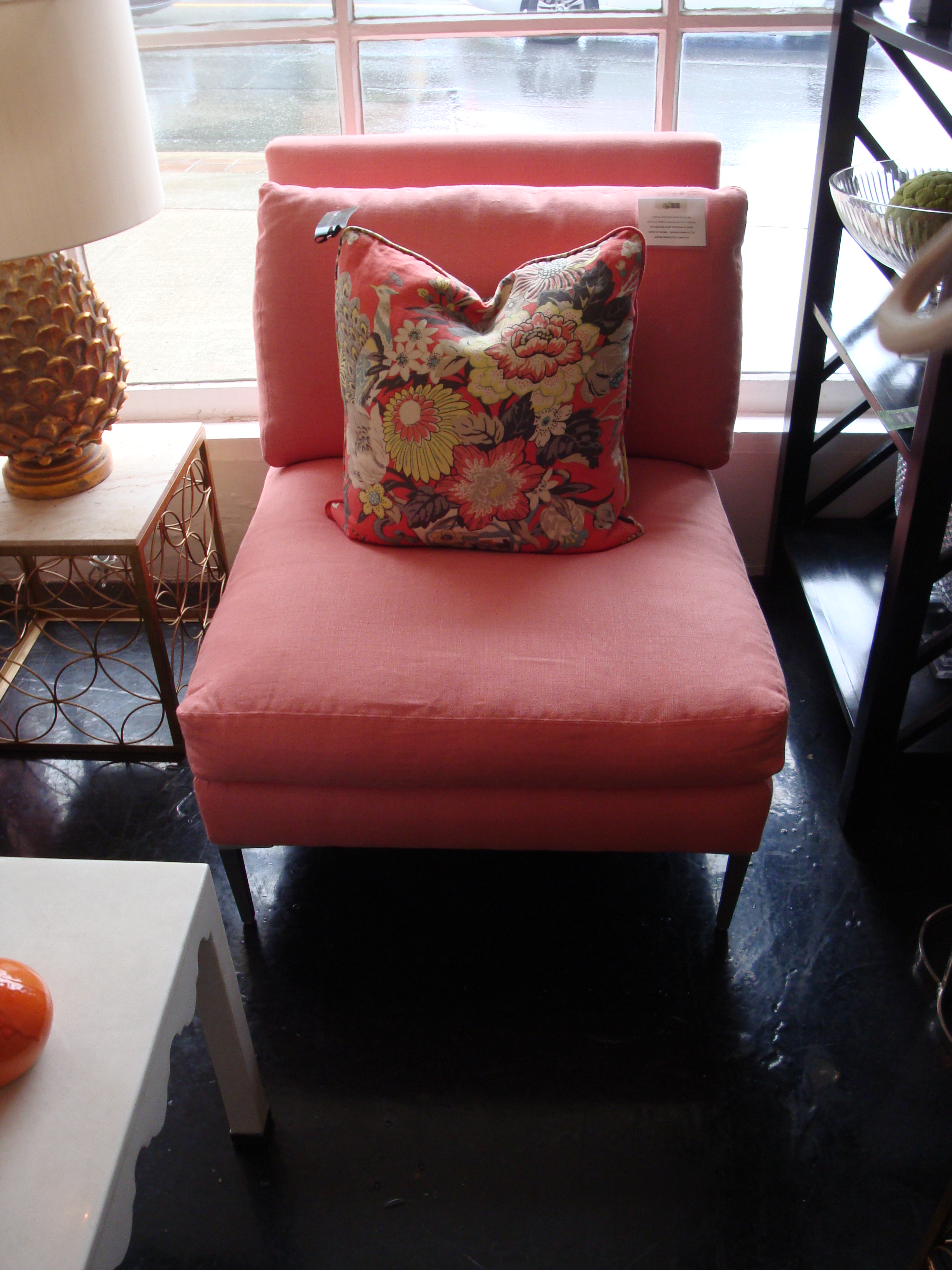 Lee  - Armless Chairs in  Deerfield Apricot
