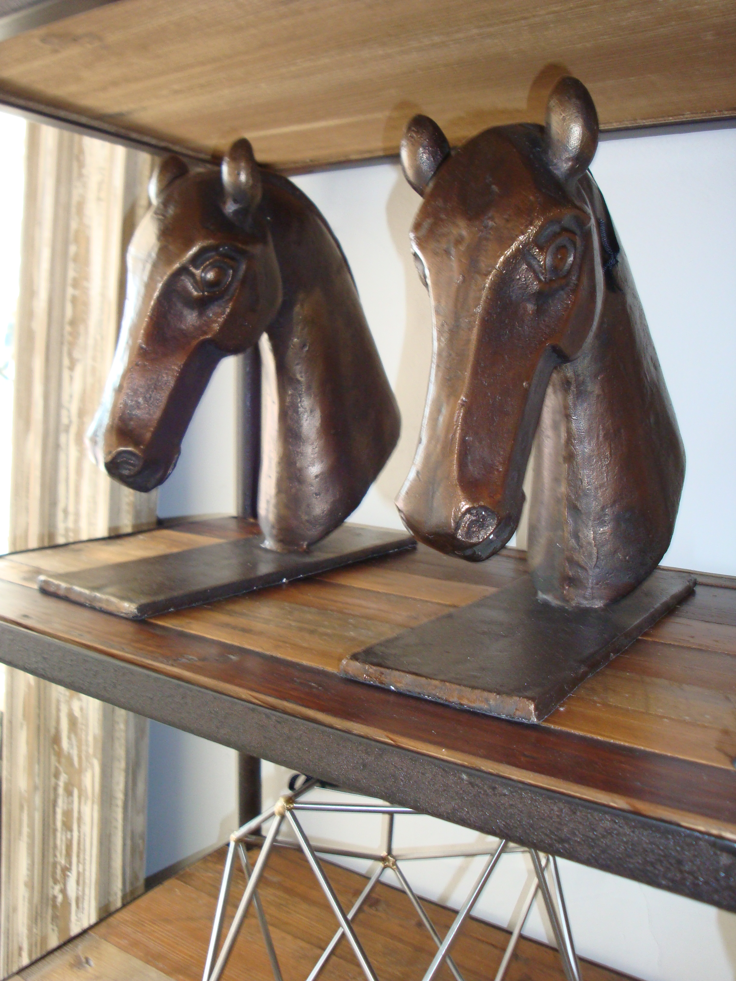 Derby Horsehead Bookends