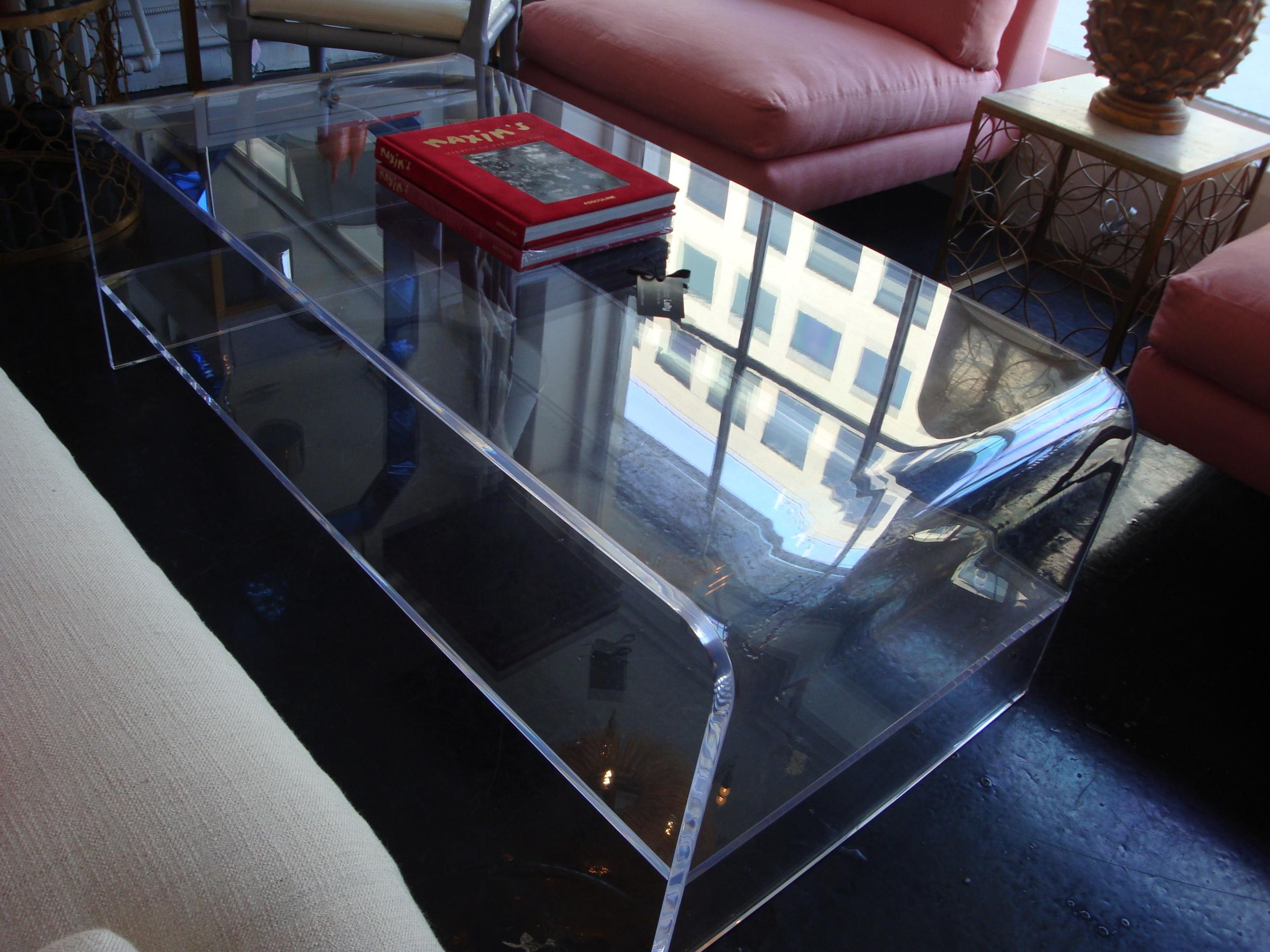 "Waterfall Coffee Table 54"" x 18"""