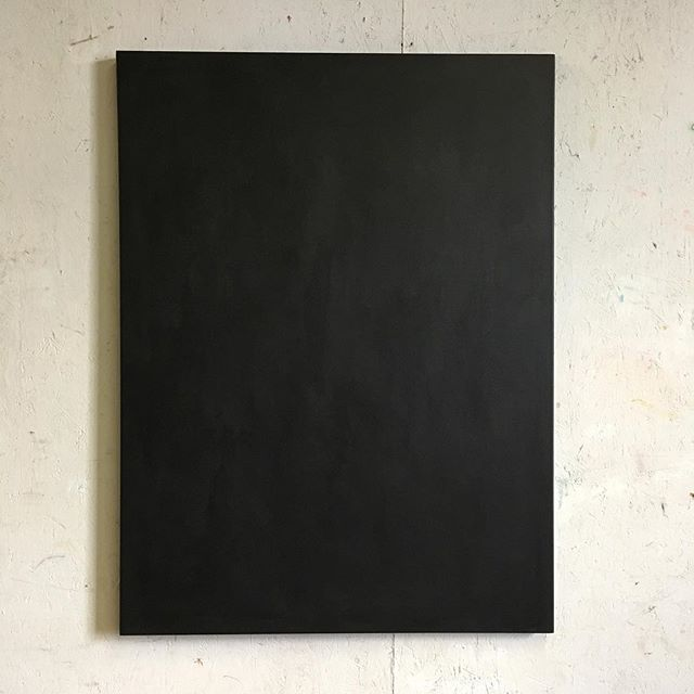 Back in the studio. Getting prepared to start another piece. #startingpoint #gesso #primer #black #oilpainting #benjaminkelley #fineart #art #studio