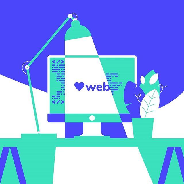 Playing outside the comfort zone. Illustration for typeof conference. . . . #posterdesign #illustration #illustrationoftheday #illustrationart #illustrator #violet #mint #designer #developer #code #web #webdesign #lamp #screen #desksetup #desk #light #typeof #typeofconf #origodesign #origodesignstudio