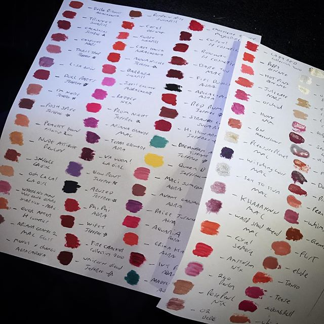 I often forget which shades I love or even have so for the past hour I've swatched lip colors and now have a chart to help me decide :) #MaciSumcox #ParodyPrincess #Sumthings #TeaSippingQueen #Sumhunks #LocalQueen #British #Drag #Parody #NYC #London #Fabulous #Diva #Impersonator #Makeup #AdeleImpersonator #BigGurl #FollowMe #Beautiful #Happy #PicOfTheDay #Instadaily #Fun #DragQueensNYC #LGBT #Gay