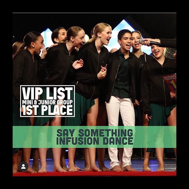 "🎩's off to @shane_carpenter_choreo for ""Say Something"" winning the junior dance off and having the highest overall mini/junior  group score in the Hollywood(Advanced) division @vipdancecomp . #number1 #viplist #teaminfusion #lyricaldance AND @miadeweese's choreography for @briellejacksonn being voted top solo choreography out of all the solos in the Hollywood(Advanced) division. Additionally, @briellejacksonn won the junior level solo dance off, Hollywood division #teaminfusion #solochoreography #contemporarydance"
