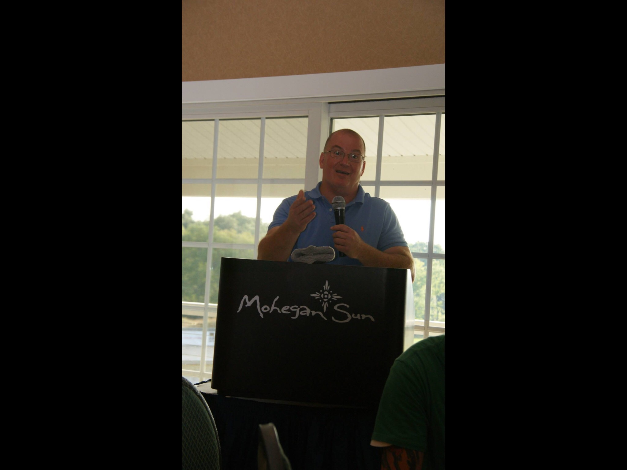 Steve speaking about the Kids Camp at the annual golf tournament