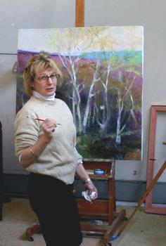 Daphne deBlois vom Baur in her studio.