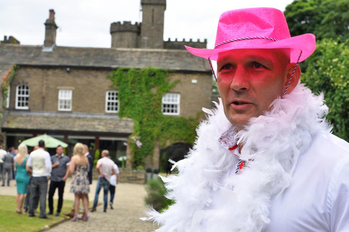 Pink Cow Boy Hat