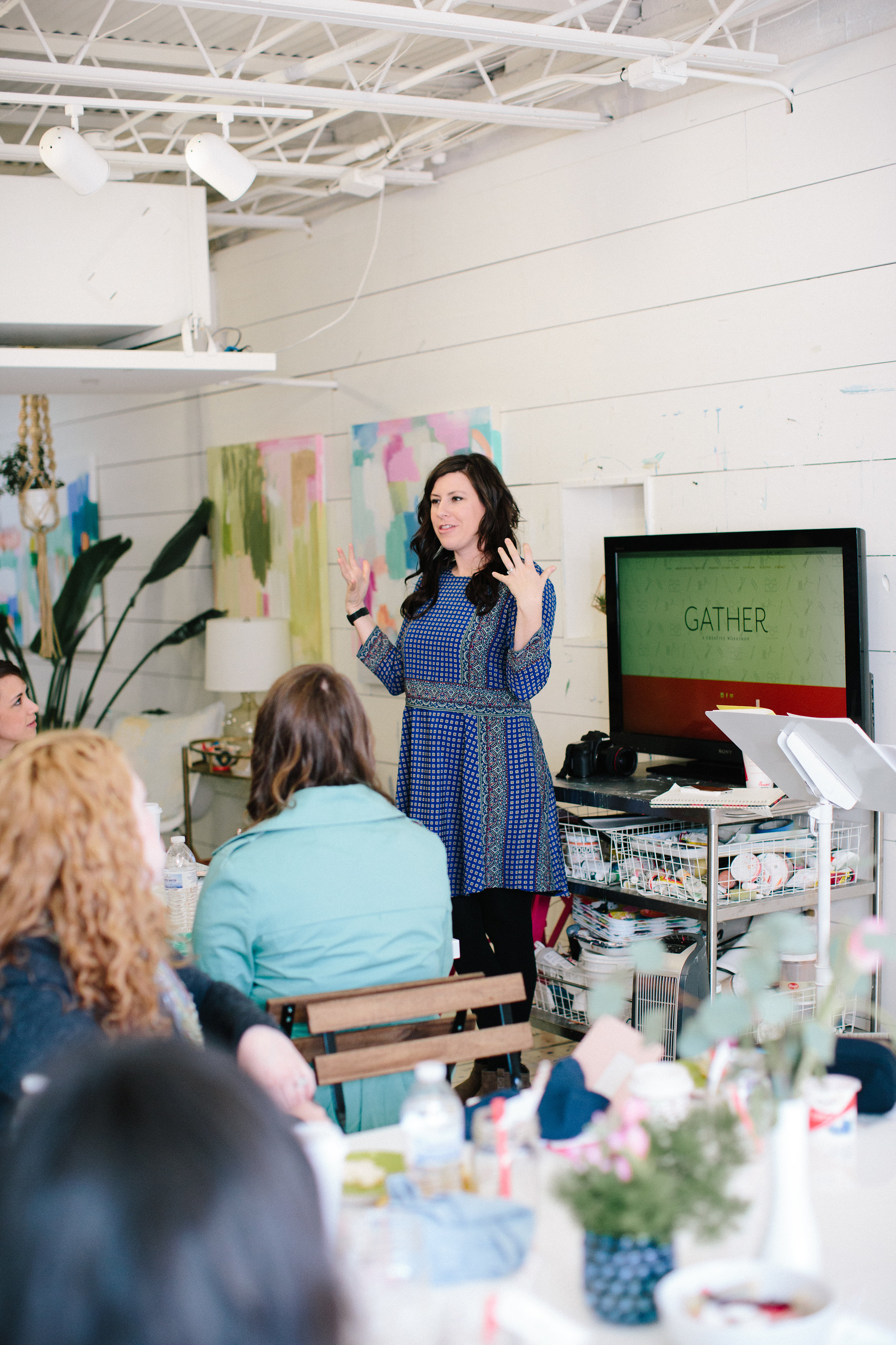 Kaitie Bryant  spoke about creativity and lifestyle.She encouraged usto make space for creativity and play. Takeaway: set aside time each week to explore.  Find beautiful things that set meon fire.