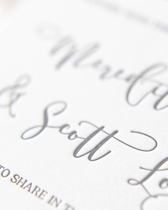 Those letterpress details though 😍