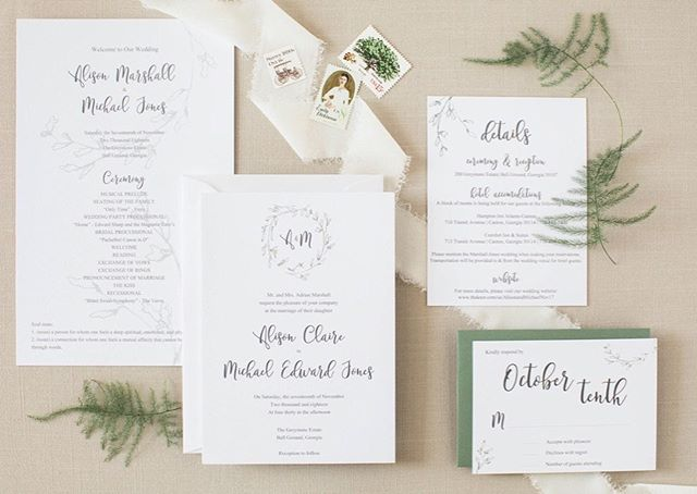 Simple greenery is one of my favorite go-to styles because it's always in season—and we can dress it up for a formal affair, or dress it down for a garden wedding.