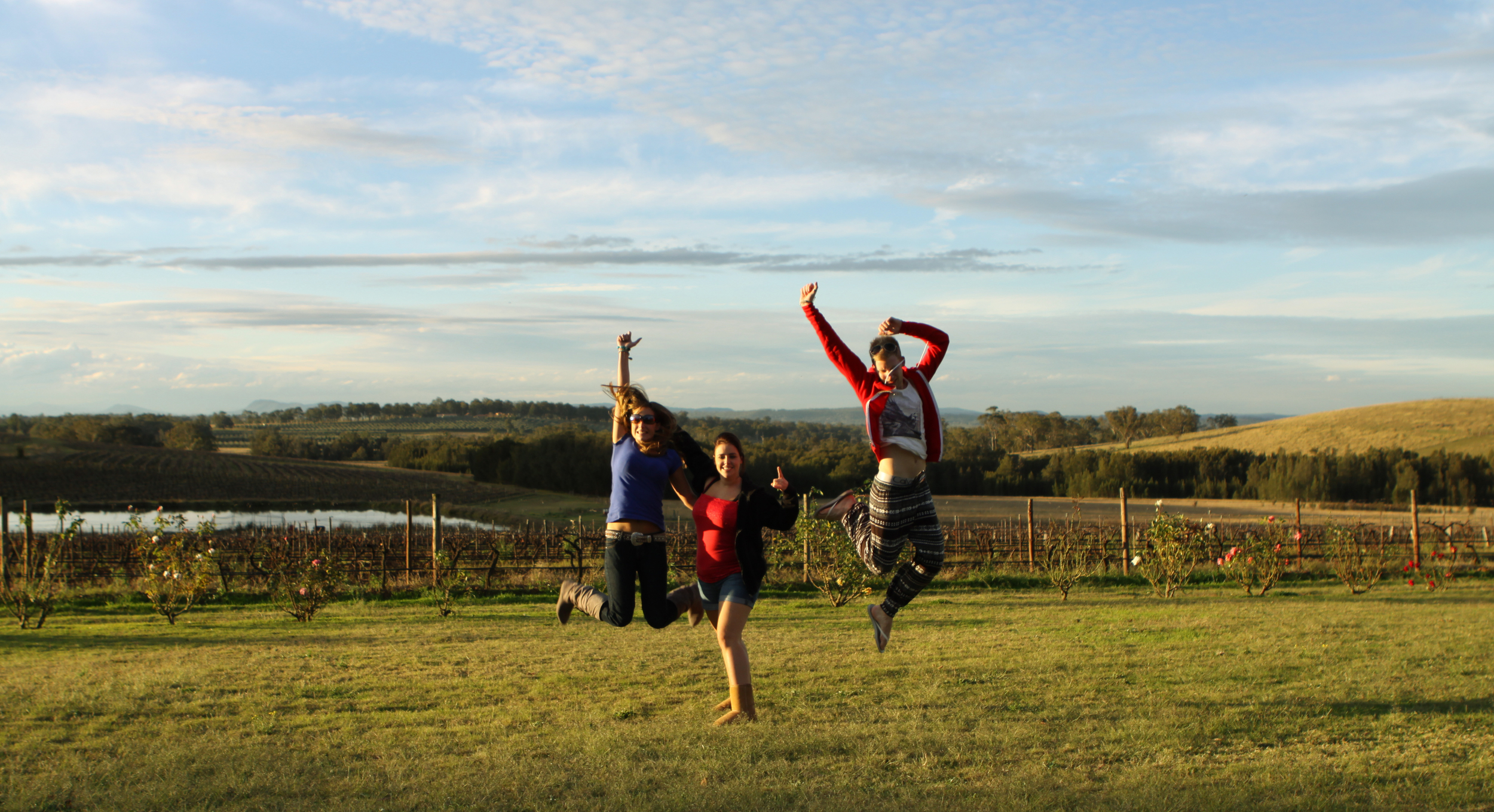 People jumping - Colourful Trips Hunter Valley Day Trip.JPG