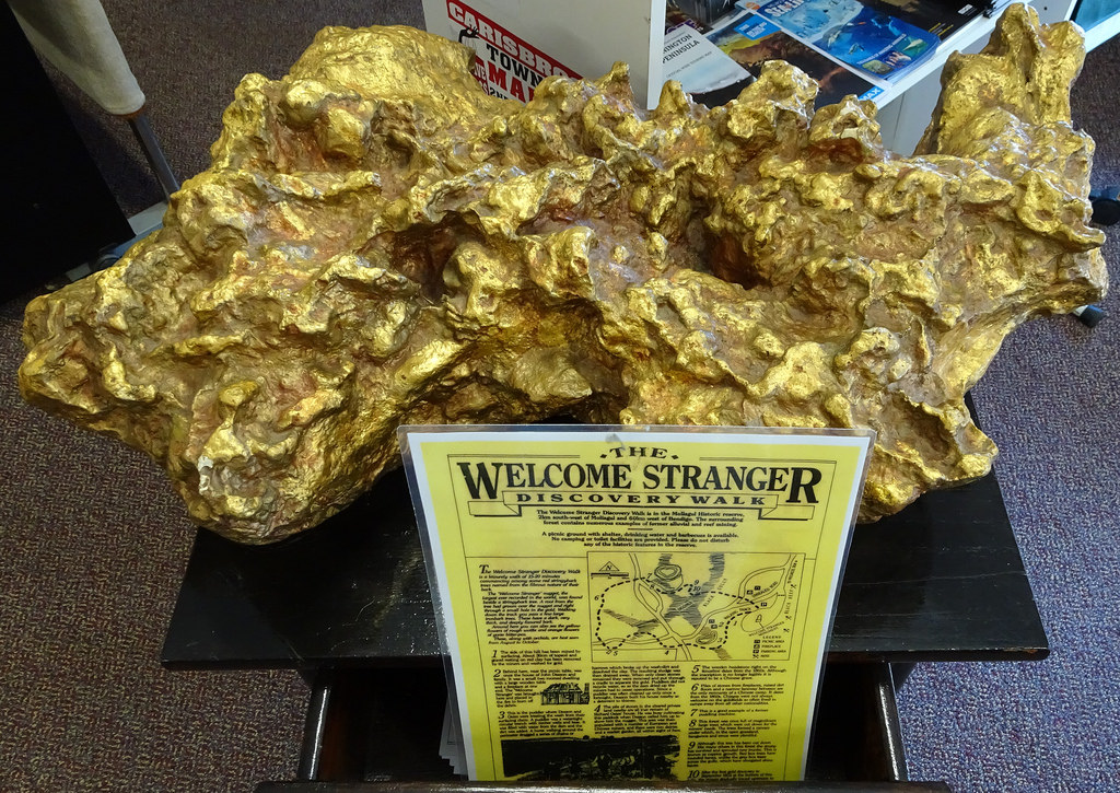 Replica of the Welcome stranger Gold Nugget found in Victoria. Picture courtesy of Flickr