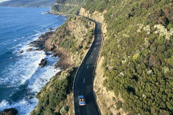 The winding Great Ocean Road