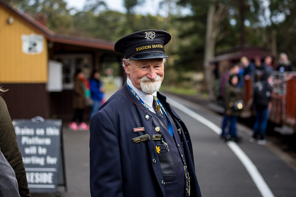 Station Master at Menzies Creek by Susan Zentay.JPG