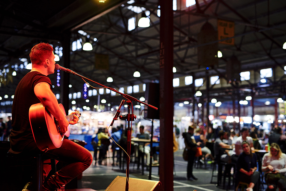 Live entertainment at the night markets