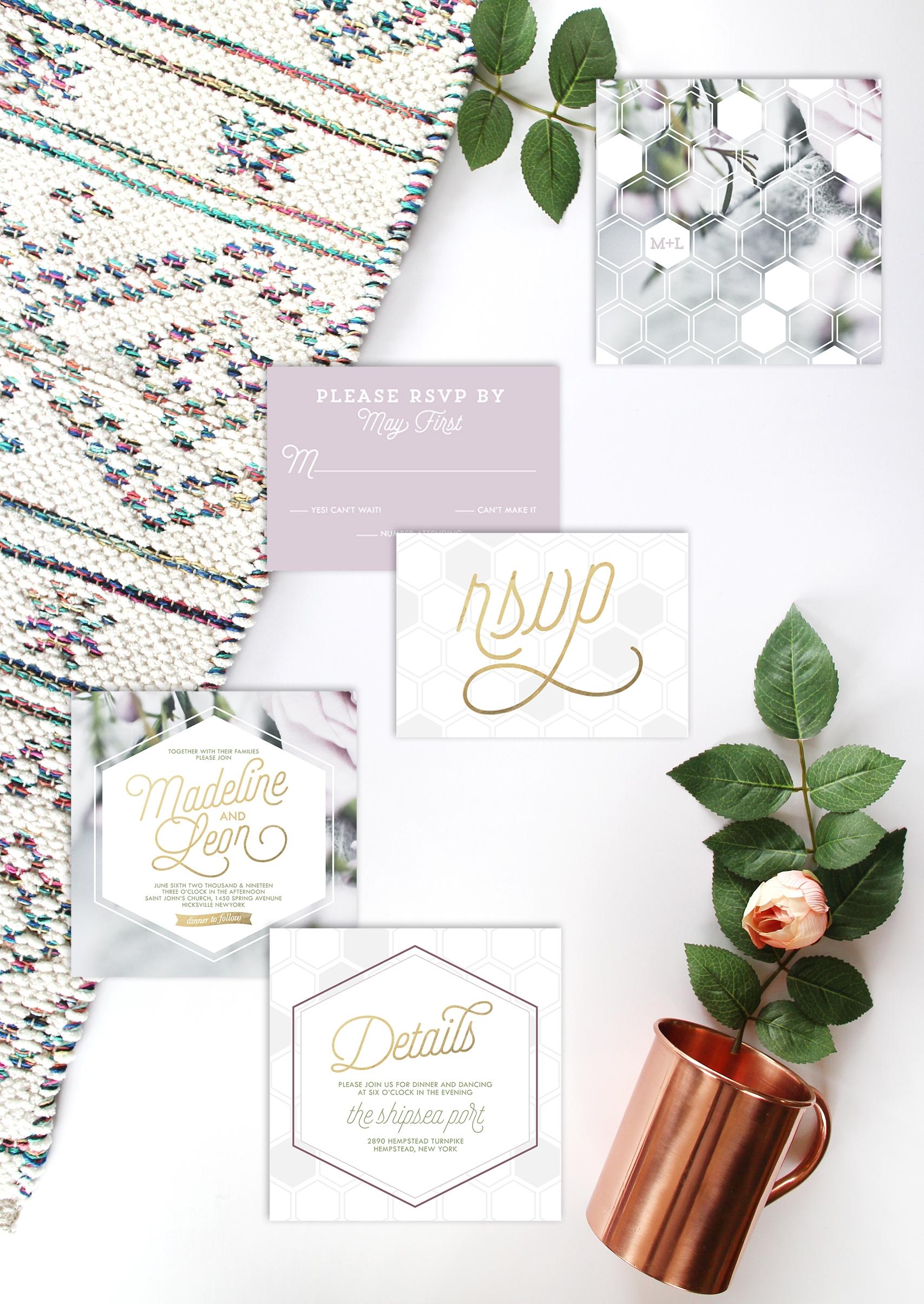 Lilac Floral Hexagon Suite