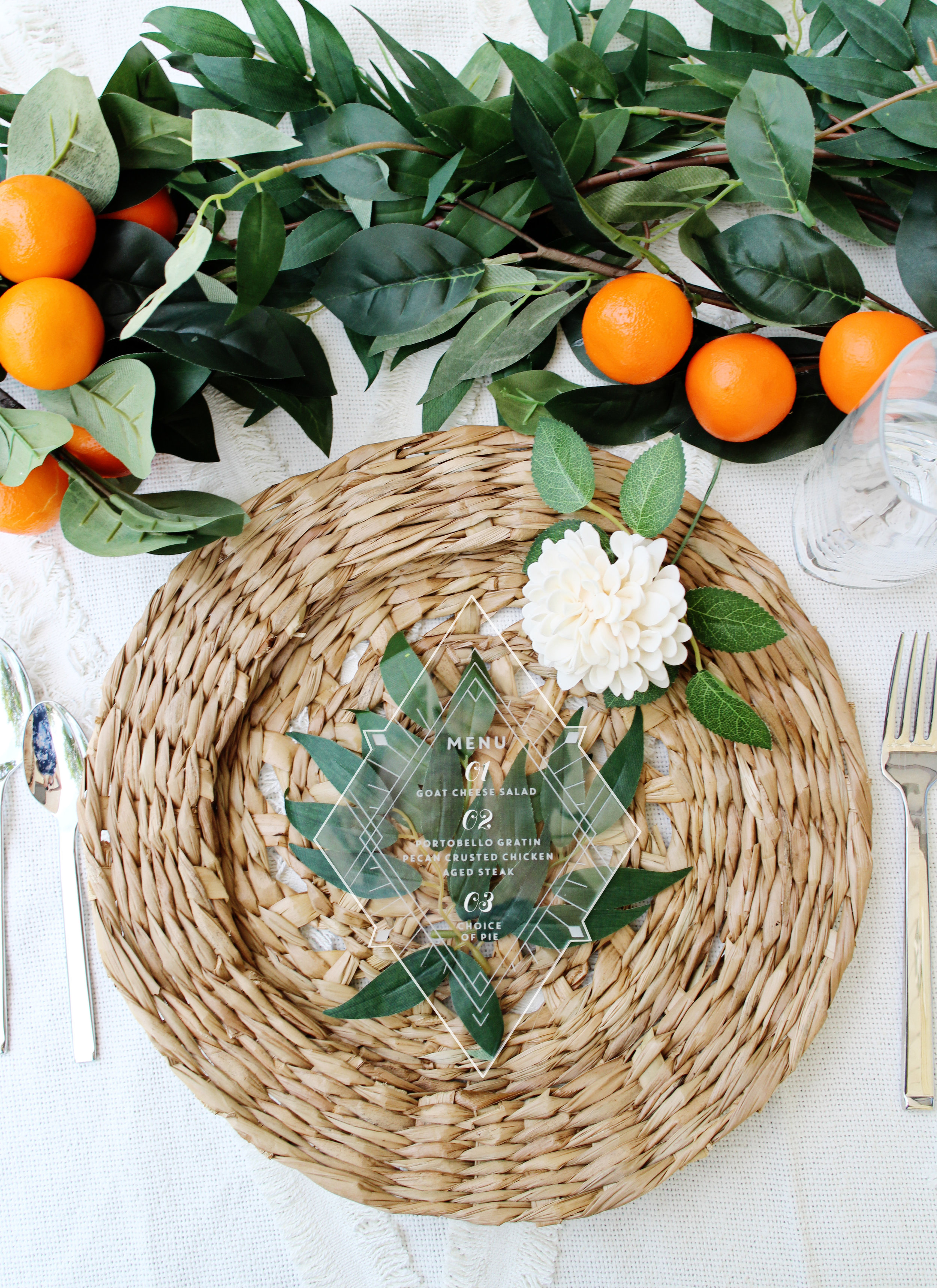 elegant rustic boho wooden geometric wedding menu rattan for your bridal shower or baby shower yellow heart art etsy.jpg