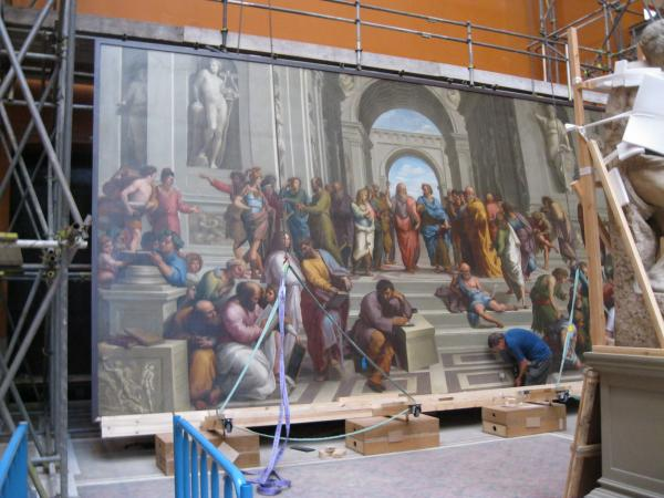 COPY OF 'SCHOOL OF ATHENS' by Mengs - after Raphael, 15' x 29' OIL ON CANVAS (vam.ac.uk)