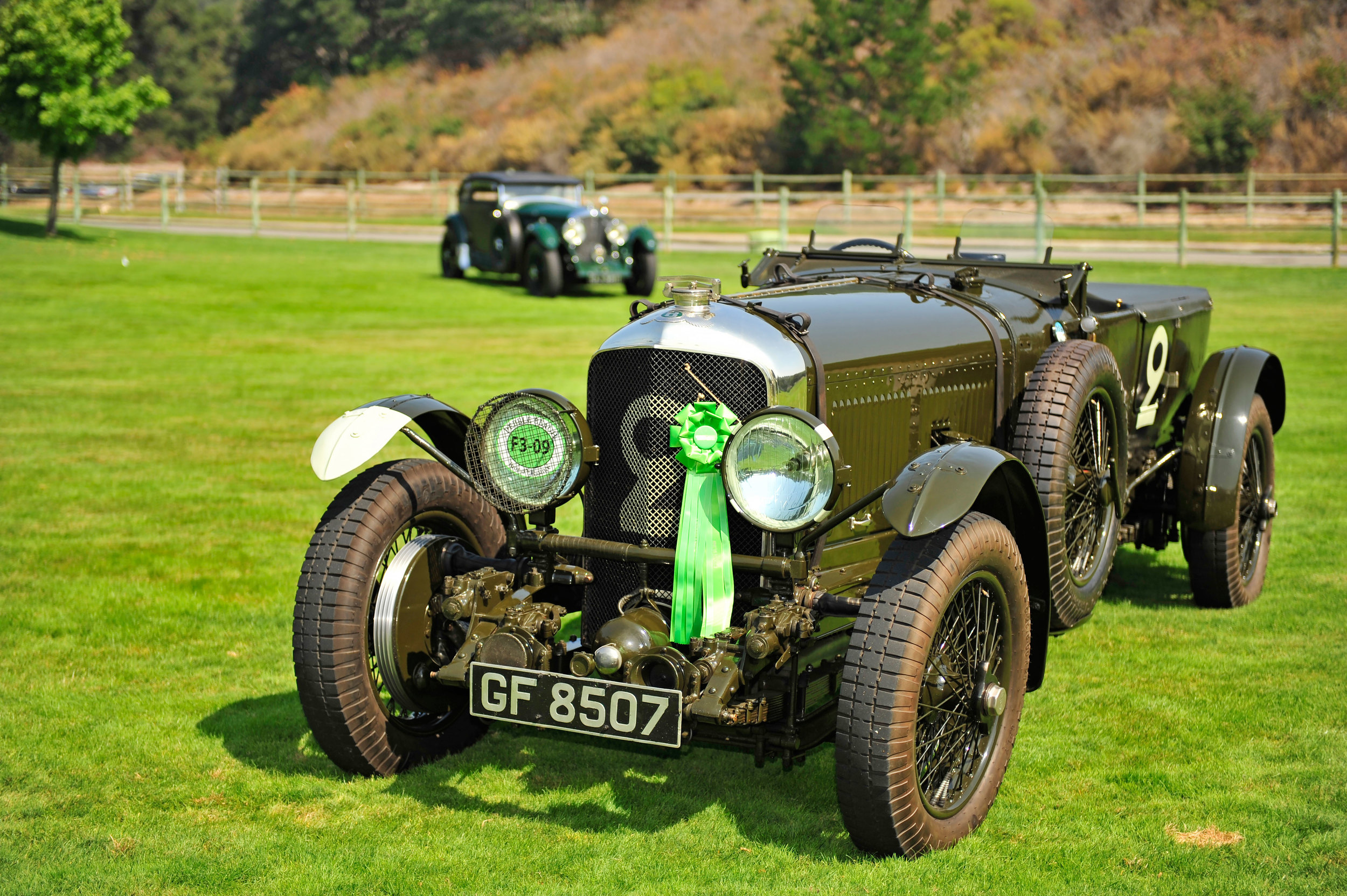 1930 Bentley Old Number 2 in the Foreground with-(behind)-the Car That Woolf Barnato-Supposedly Raced the French Cannes to Calais Train