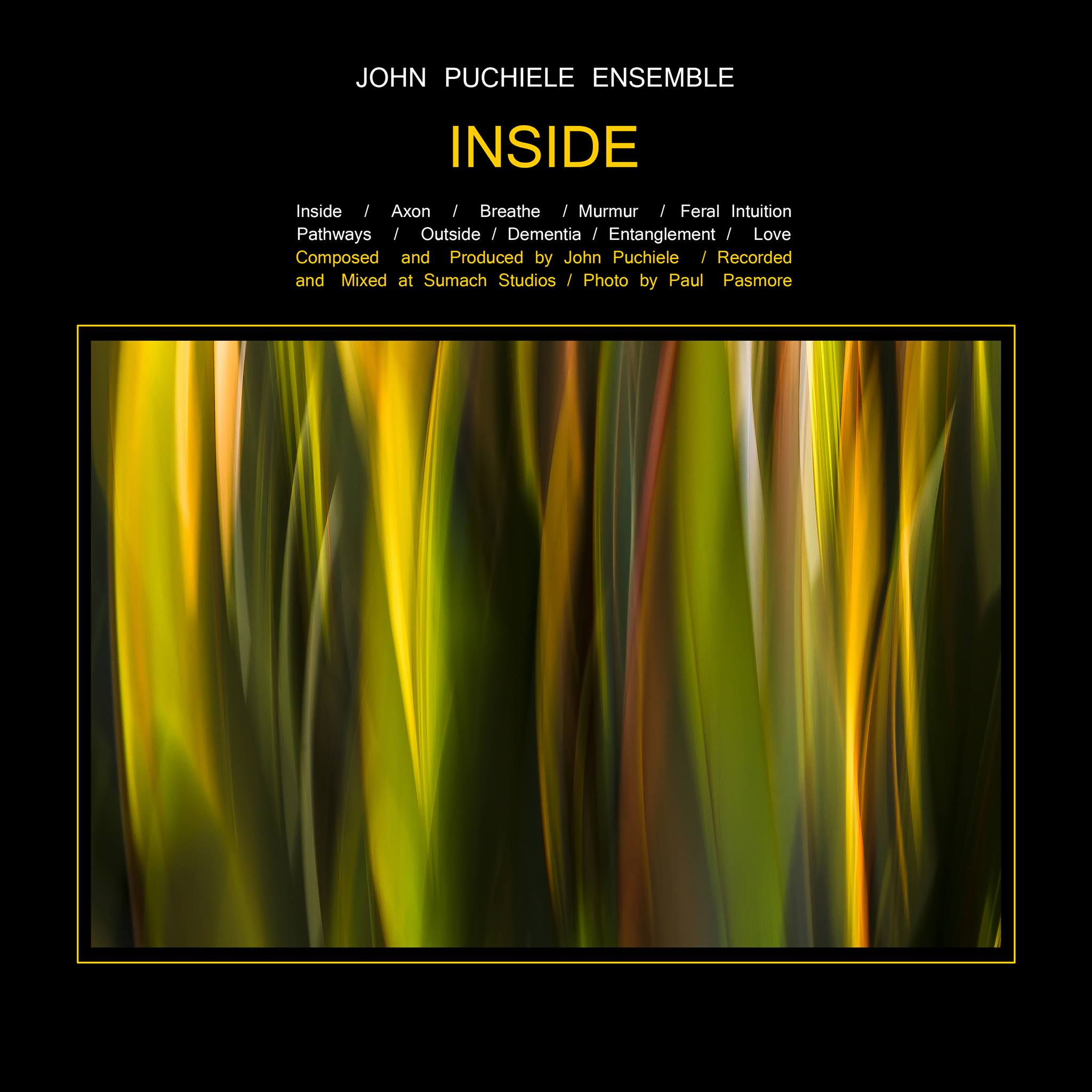 - I am honoured to have my image Limerence grace the cover of Toronto composer John Puchiele's new recording Inside. You can find out more info about his recording here :https://johnpuchieleensemble.bandcamp.com/