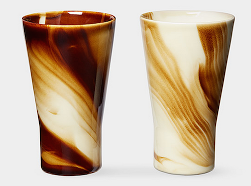 I'm pretty sure these marbled tumblers make your coffee taste better.