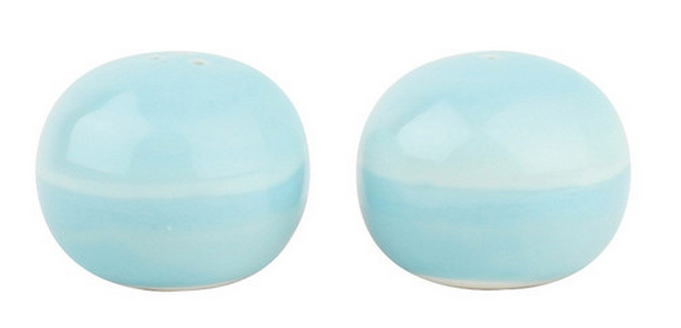 Is this where sea salt comes from? These watercolor meets ocean salt and pepper shakers just feel so right.