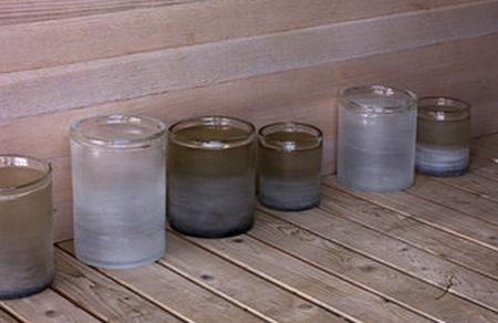 sandblasted vases