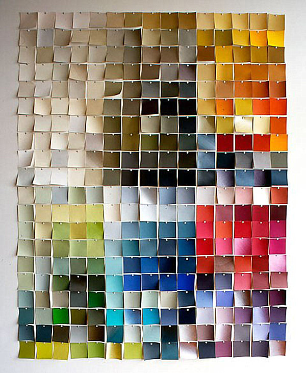 art made of paint chips?