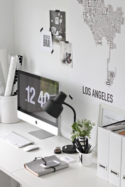 white-desk-organized-map-wallpaper