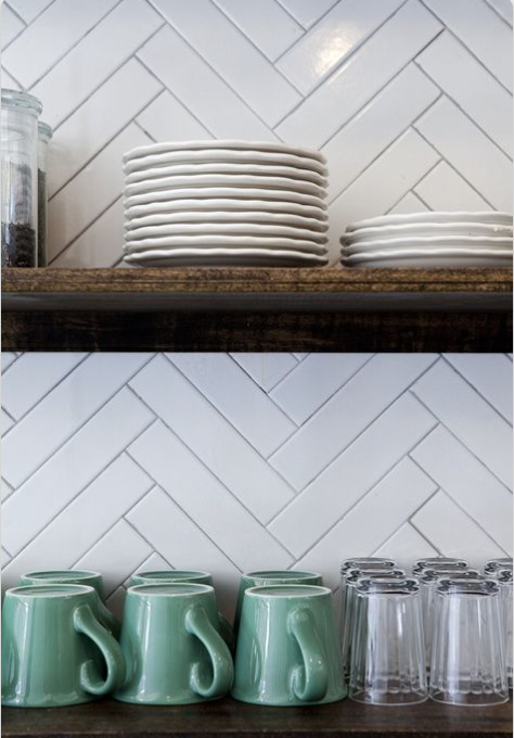 When you use longer-than-average subway tile you get a simpler pattern that's easy on the eyes.