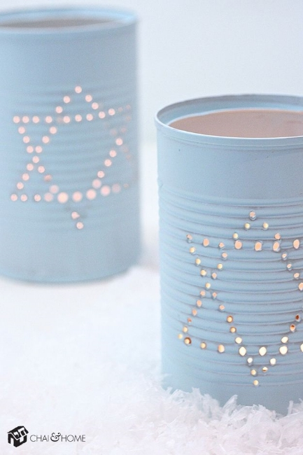 Painted soup cans... Who knew? Chai & Home