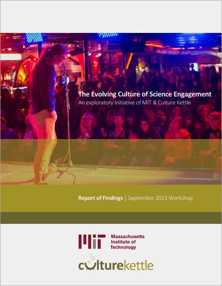 Download our new report from the first phase of the initiative, a gathering of innovative science engagement practitioners, scientists, researchers and funders in September, 2013.