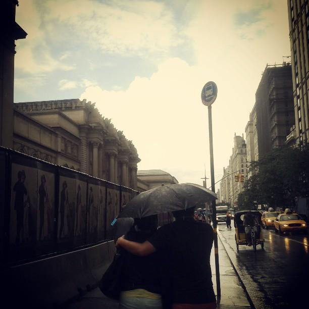 rainy day stroll