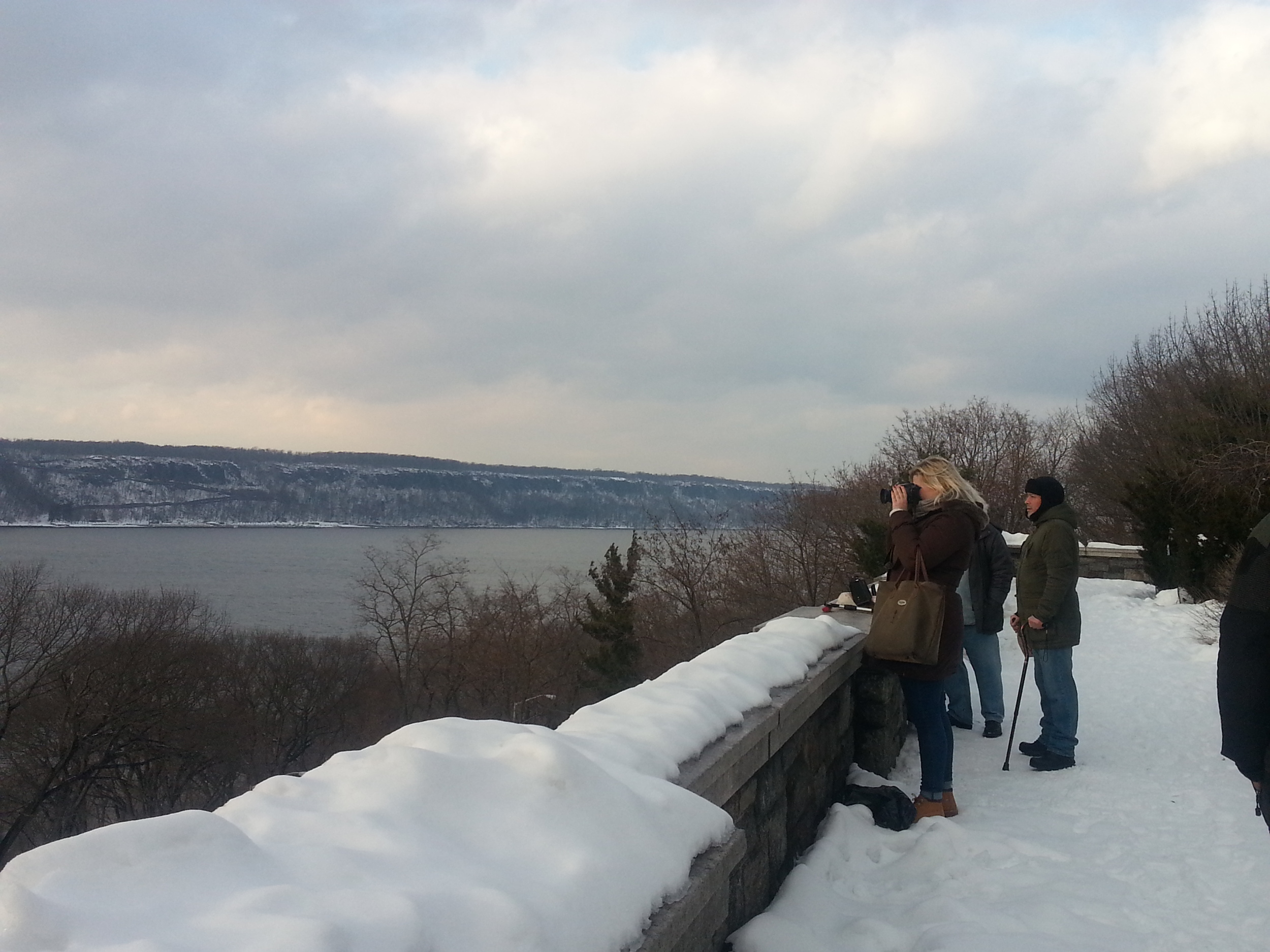 Photo I snapped of an Native Creative Concierge client I took to Fort Tryon Park... in the snow no less!