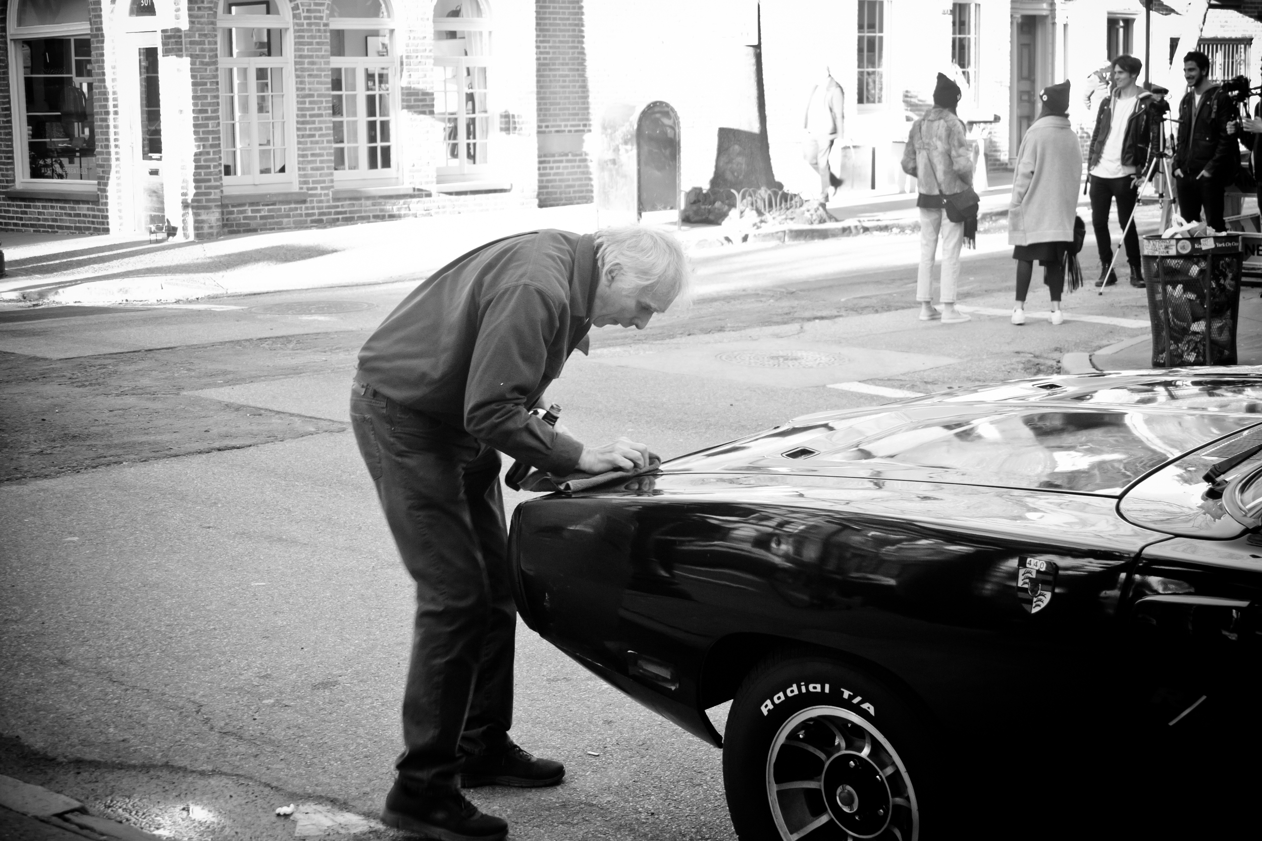 One of New York City's car lovers I met on a recent weekend photo walk. This man told us he bought the Charger from his deceased buddy's widow. He admitted to being a perfectionist and loving the car in black.