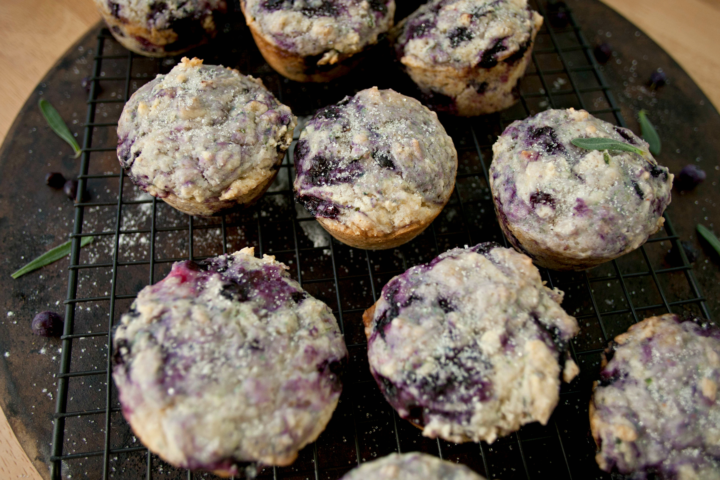 Produce On Parade - The Best Lavender Blueberry Muffins