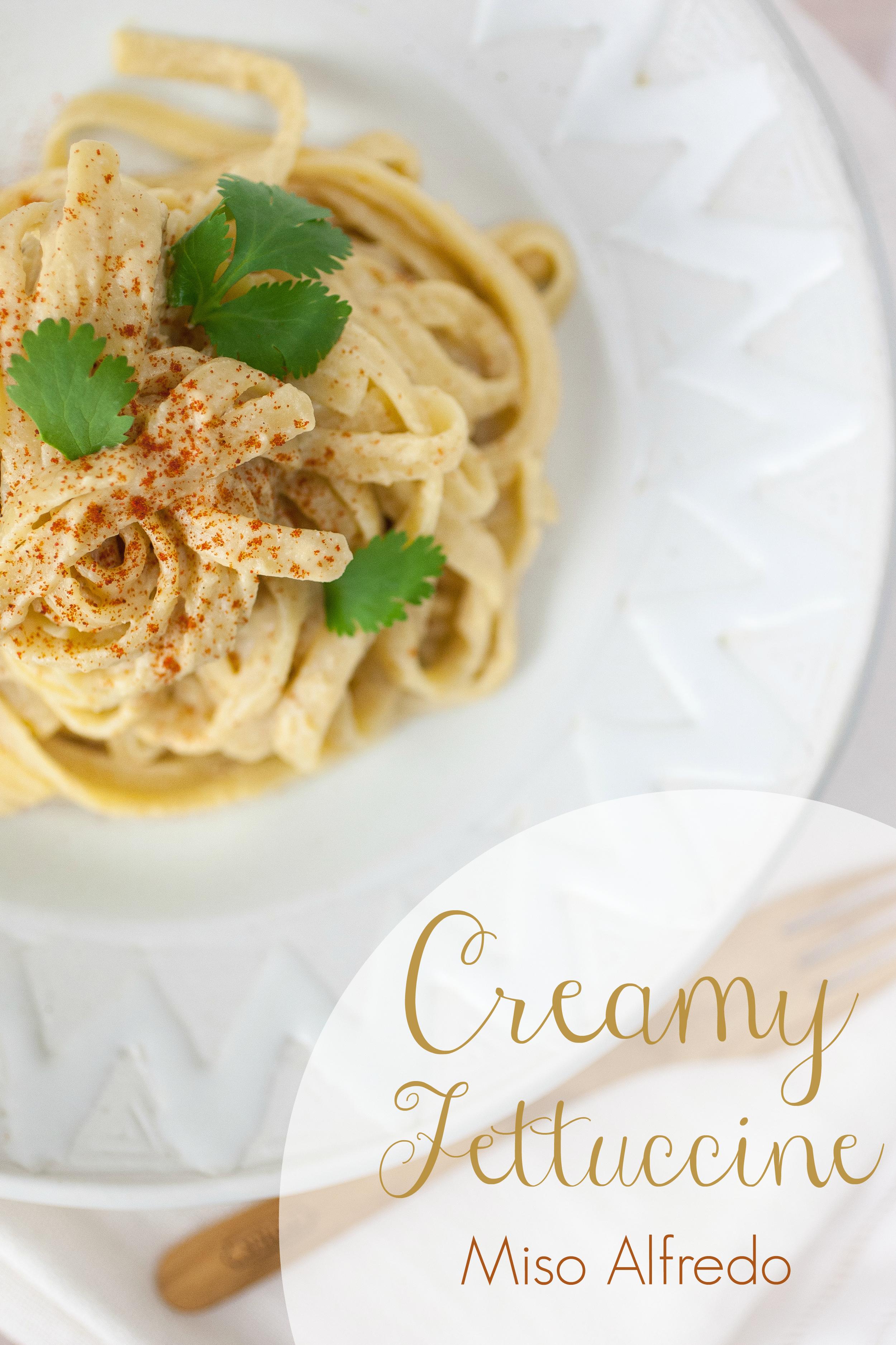Produce On Parade - Creamy Fettuccine Miso Alfredo