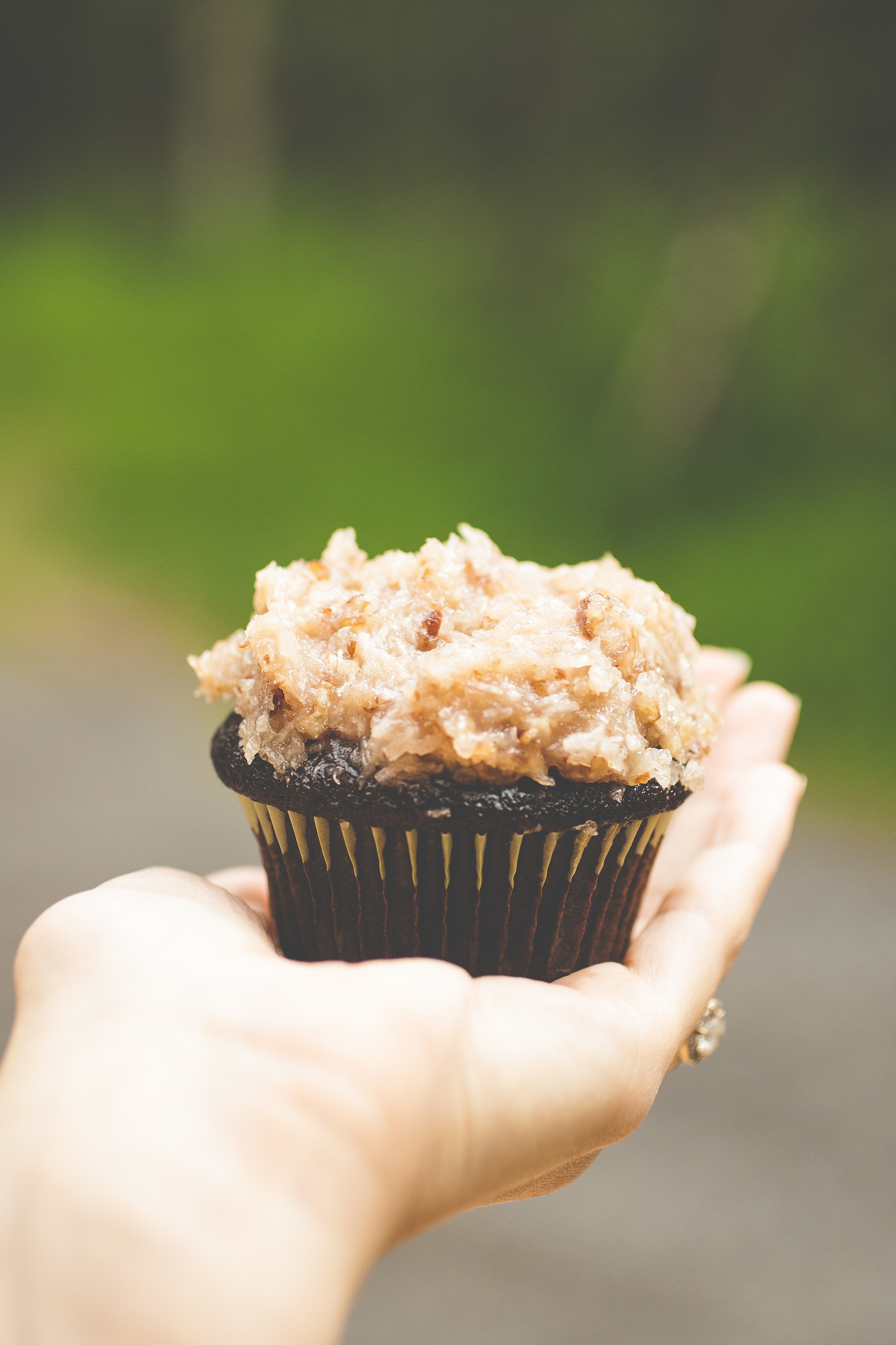Produce On Parade - German Chocolate Cupcakes