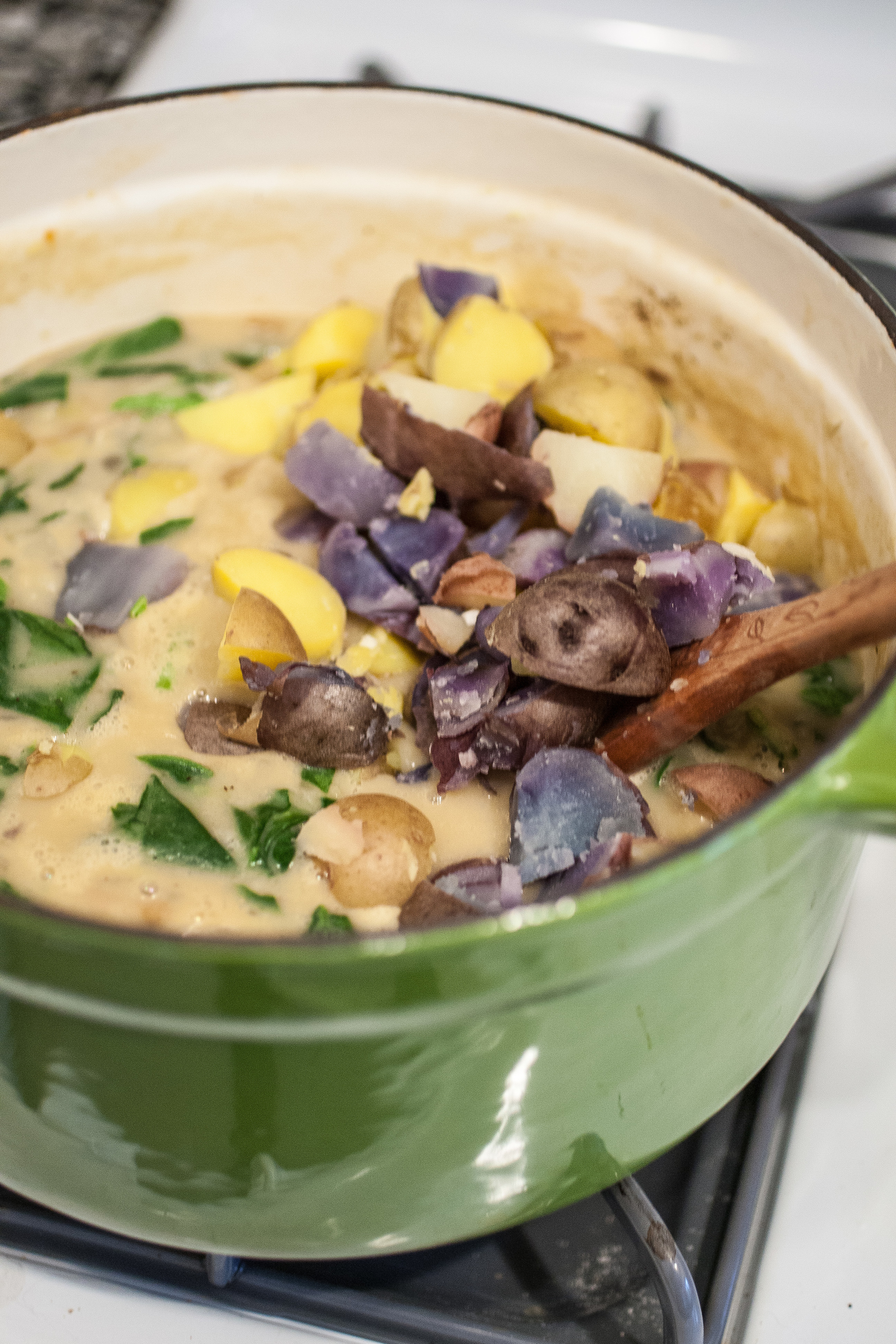 Produce On Parade - Creamy Potato & Spinach Chowder