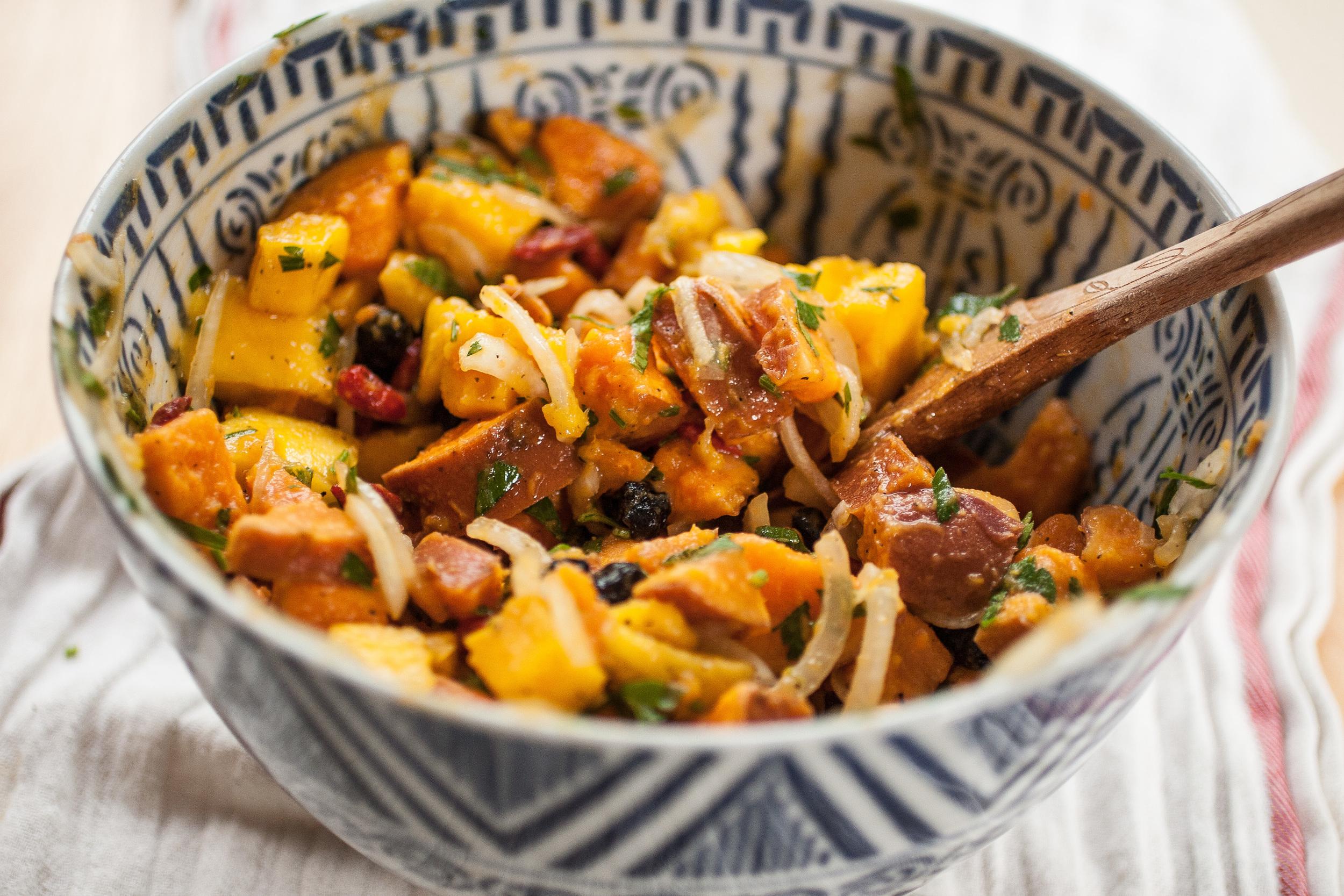 Produce On Parade - Sweet Potato Mango Salad