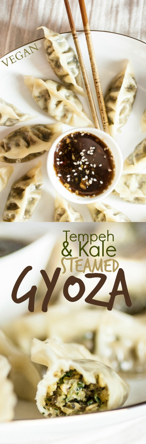Produce On Parade - Tempeh & Kale Steamed Dumplings - Tender kale and meaty tempeh fill a silky, steamed gyoza for a healthy and impressive meal.