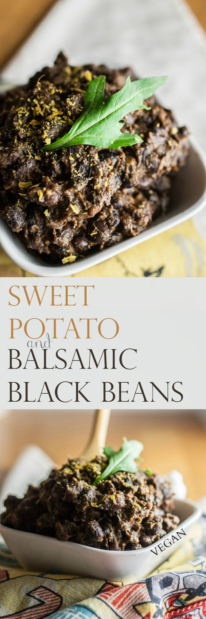 Produce On Parade - Sweet Potato & Balsamic Black Beans - Tender black beans combine with chunks of sweet potatoes and bathe in a spiced balsamic sauce for a healthy and delicious side. I've included instructions for using a pressure cooker or a soup pot.