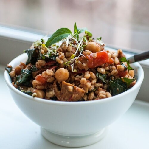 Warm Balsamic Barley Salad