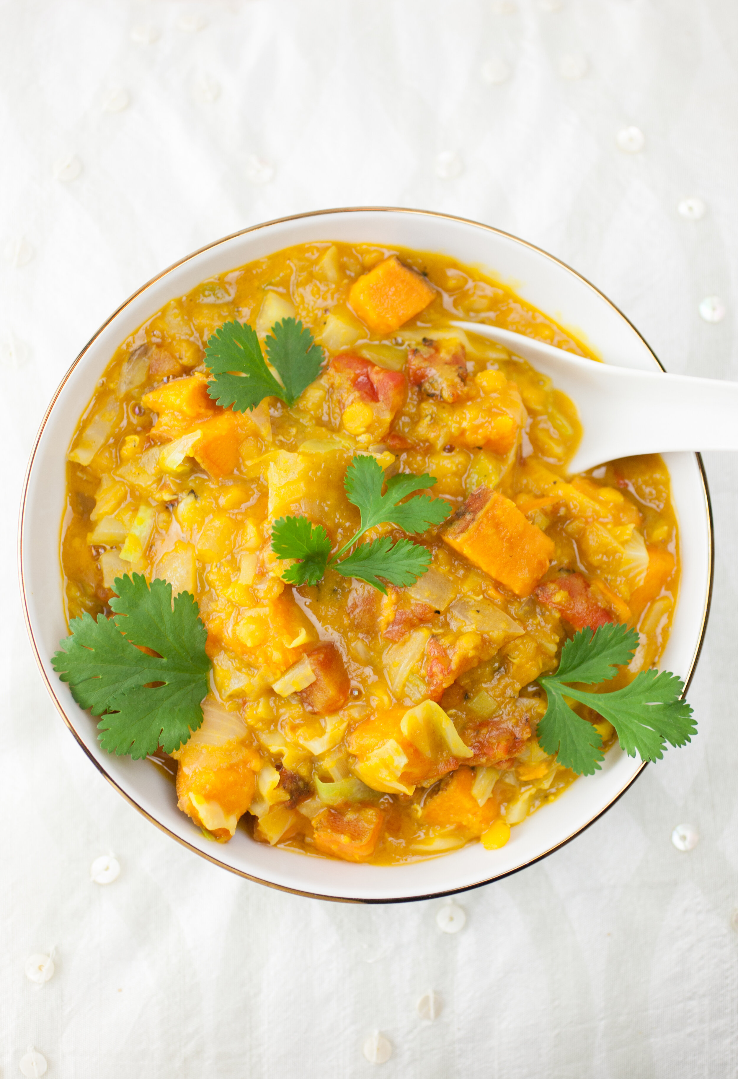 Thai Lentil Sweet Potato Stew