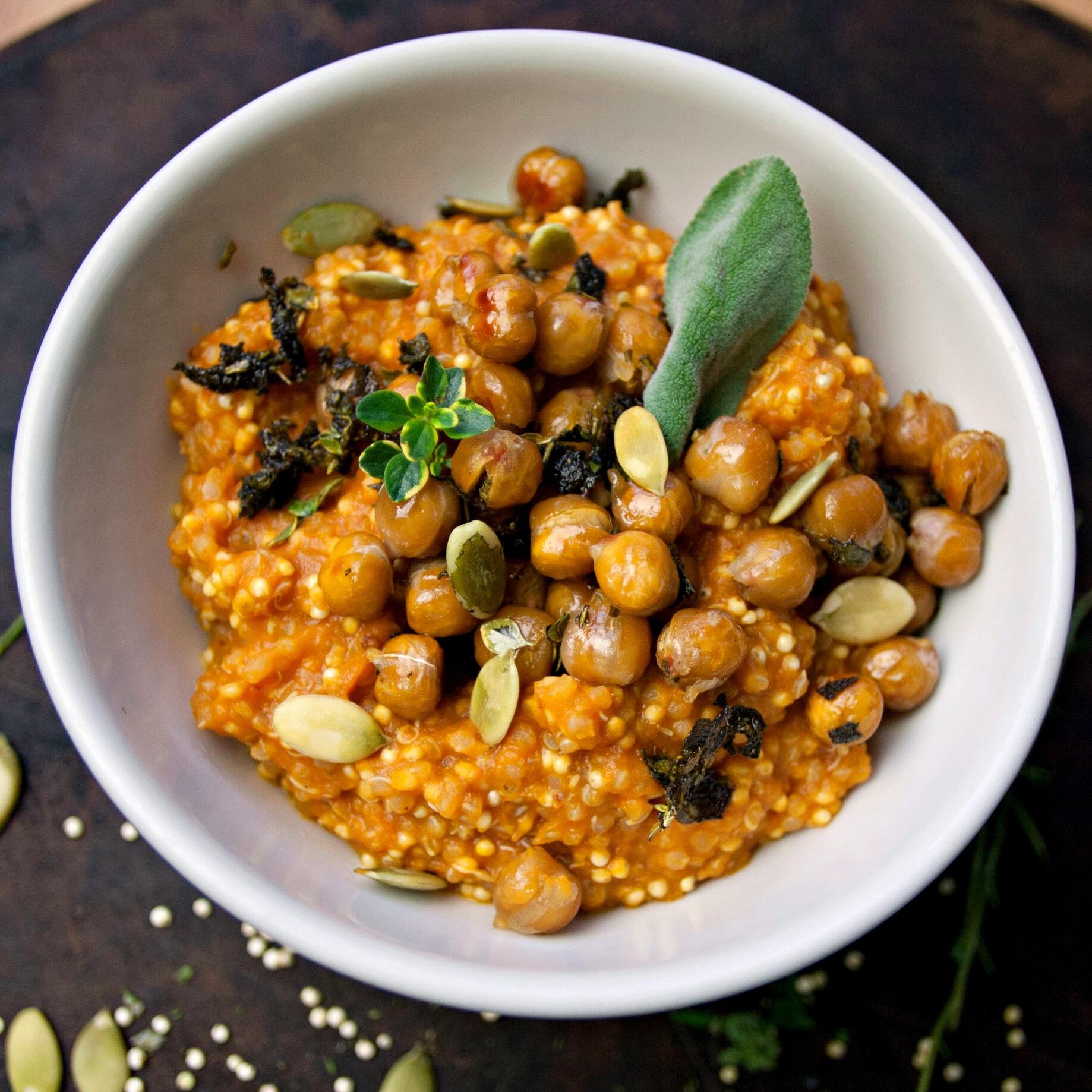 Sage Maple Chickpeas + Creamy Pumpkin Quinoa & Millet