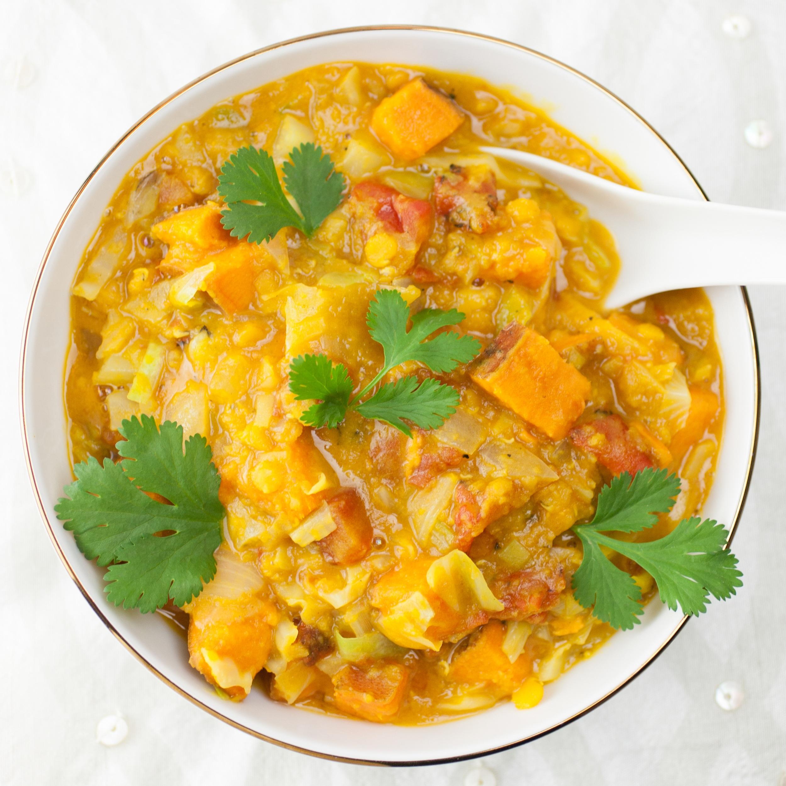Thai Lentil Sweet Potato Soup