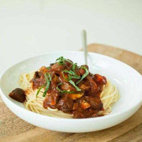 Easy Mushroom Spaghetti